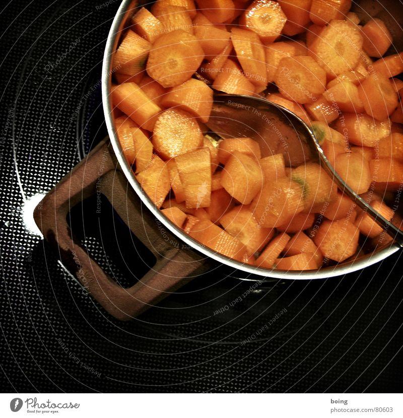 zetts Möhre in Stücke geschnitten und die Vitamine ausgekocht Feld Lebensmittel Ernährung Gesunde Ernährung Kochen & Garen & Backen Küche Gemüse Gastronomie