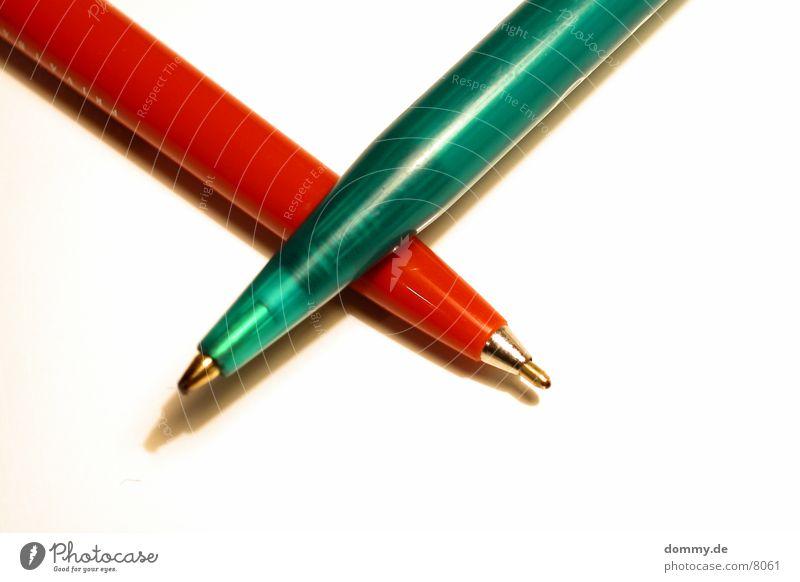 X grün rot 2 Kugelschreiber