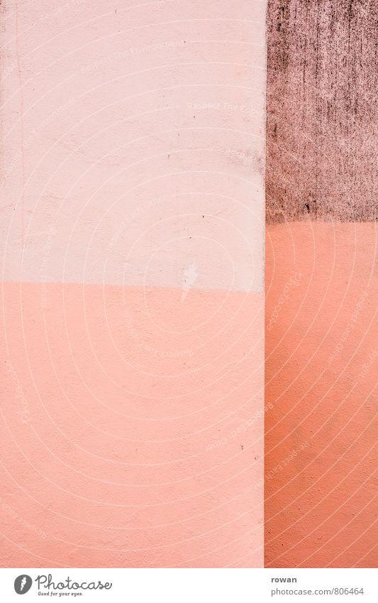 rosa Mauer Wand Fassade Farbstoff Strukturen & Formen Rechteck Hintergrundbild streichen Dekoration & Verzierung Farbfoto Außenaufnahme Menschenleer