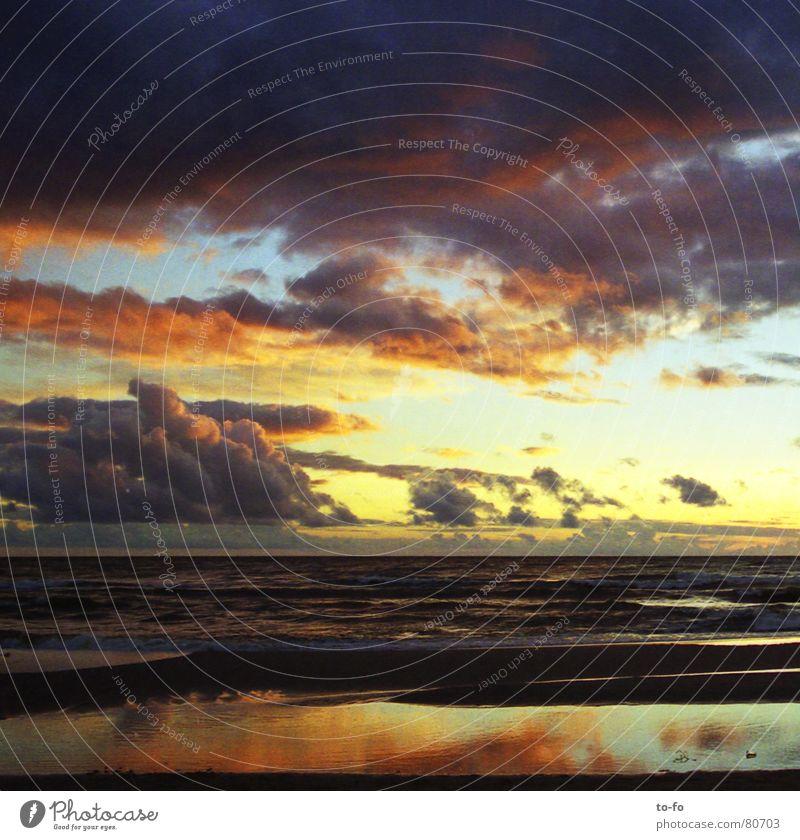 o.T. Wasser Himmel Sonne Meer Sommer Strand Ferien & Urlaub & Reisen Wolken Farbe Erholung See Küste Romantik Abenddämmerung gemalt