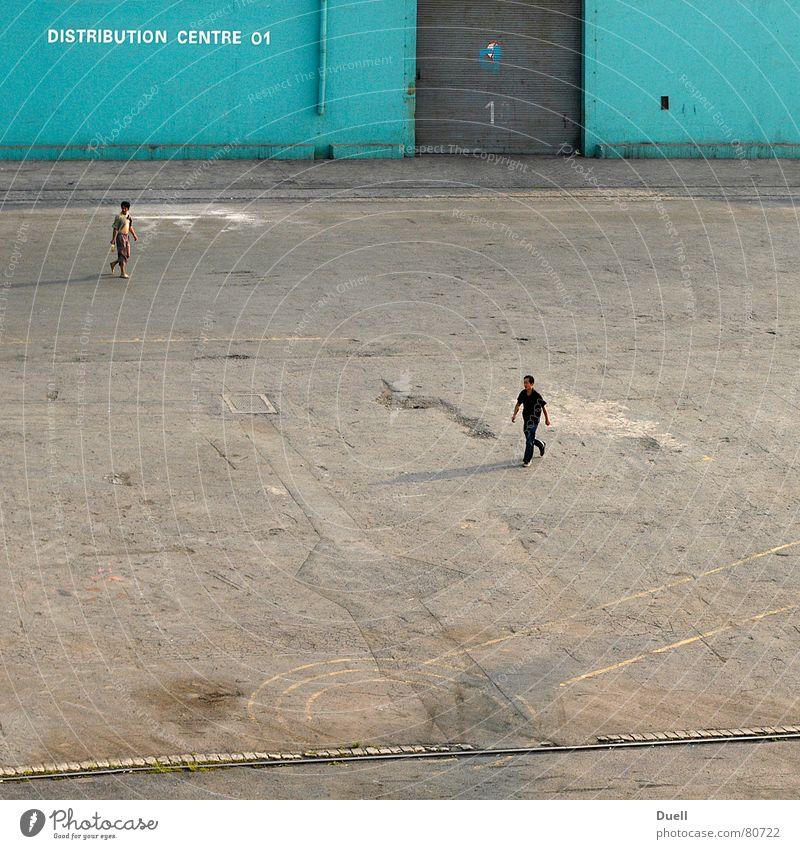 Dalian Mensch Tanzen Platz Hafen China Tor türkis Kulisse