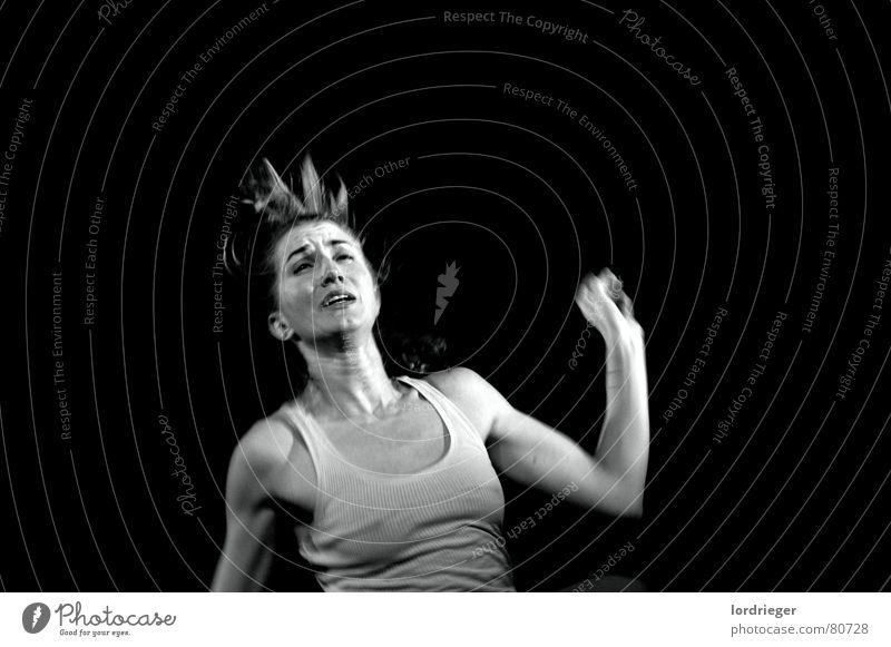 ego schwarz Gesicht dunkel springen Tanzen Geschwindigkeit Hoffnung Frieden Schmerz Respekt langsam egoistisch Performance