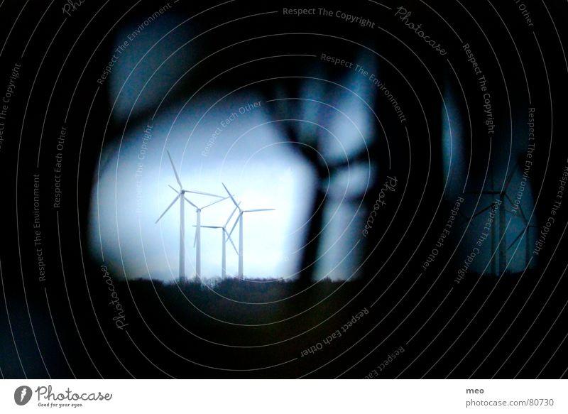 Tunnel Ferne Industrie Windkraftanlage Loch drehen