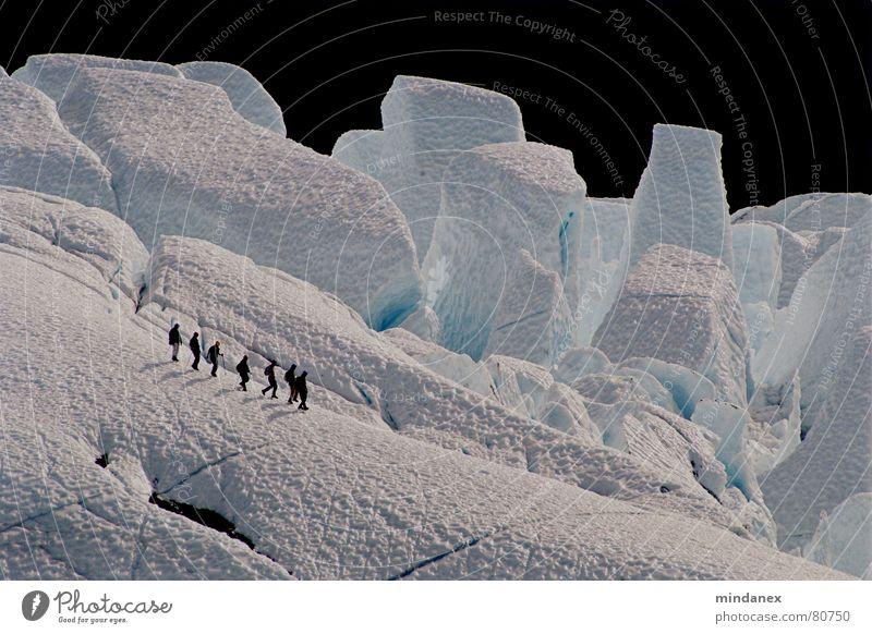 Eisriesen (Matanuska Gletscher) weiß blau Winter Schnee Berge u. Gebirge Eis Gletscher Alaska Eisklettern