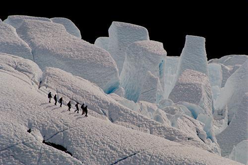 Eisriesen (Matanuska Gletscher) weiß blau Winter Schnee Berge u. Gebirge Alaska Eisklettern