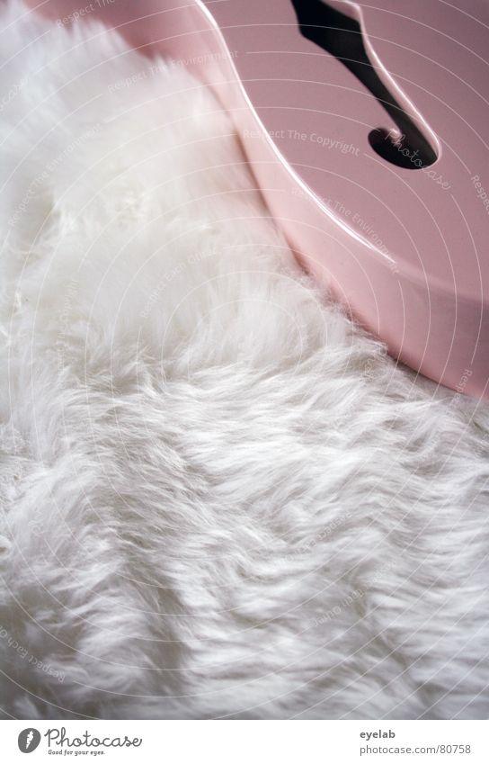 Gitarren Porno schön Musik glänzend rosa weich Fell Konzert Gitarre Starruhm Schaf Punk Schalter Entertainment elektrisch Glamour Pornographie