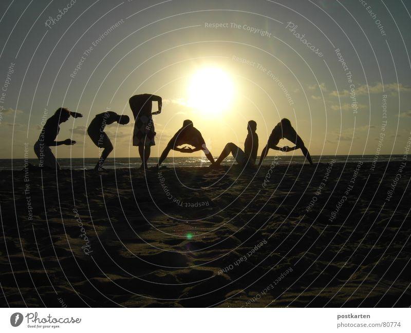 SURFEN - ESPANA 09/2006 (Teil 2 von 3) Spanien Gegenlicht Surfen Freundschaft Sonnenaufgang Sonnenuntergang Ferien & Urlaub & Reisen Wort Buchstaben