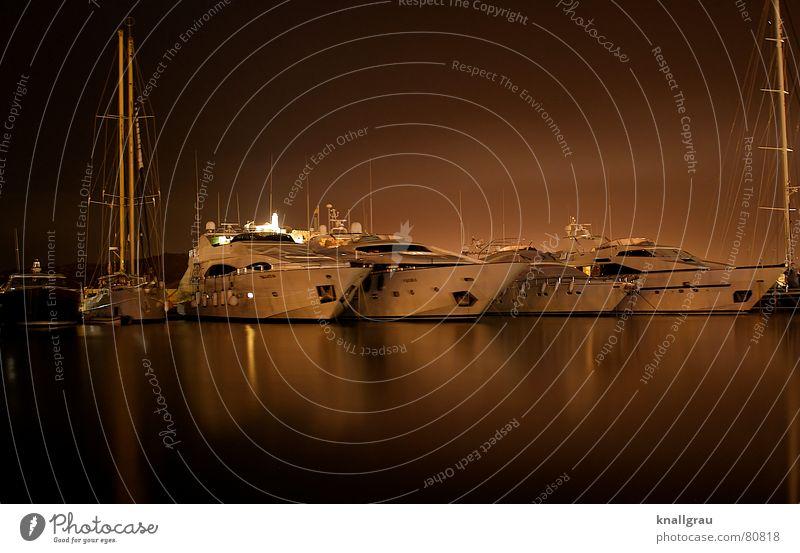Harbour Nights Ferien & Urlaub & Reisen rot ruhig Erholung Küste Wasserfahrzeug Freizeit & Hobby elegant Insel Erfolg Hafen Spielzeug zart Rennsport Schifffahrt
