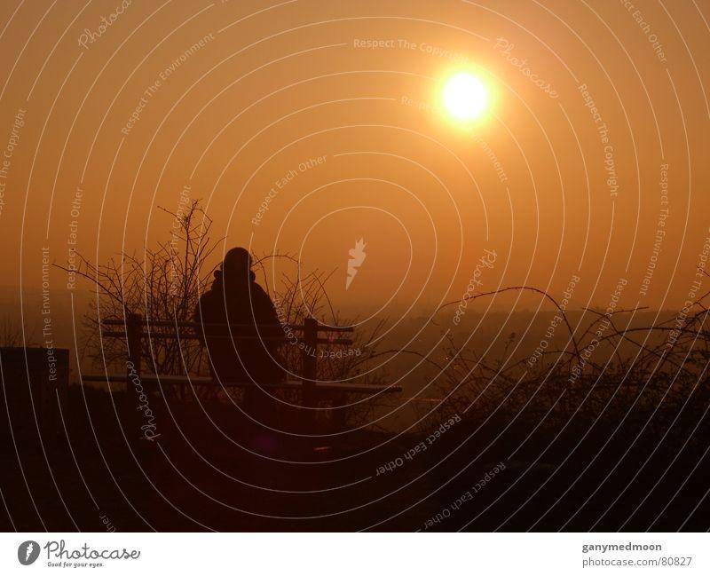 Lonely Sunset... Einsamkeit Trauer Sonnenuntergang Halde Herbst Verzweiflung Vergänglichkeit Traurigkeit Gefühle Bank