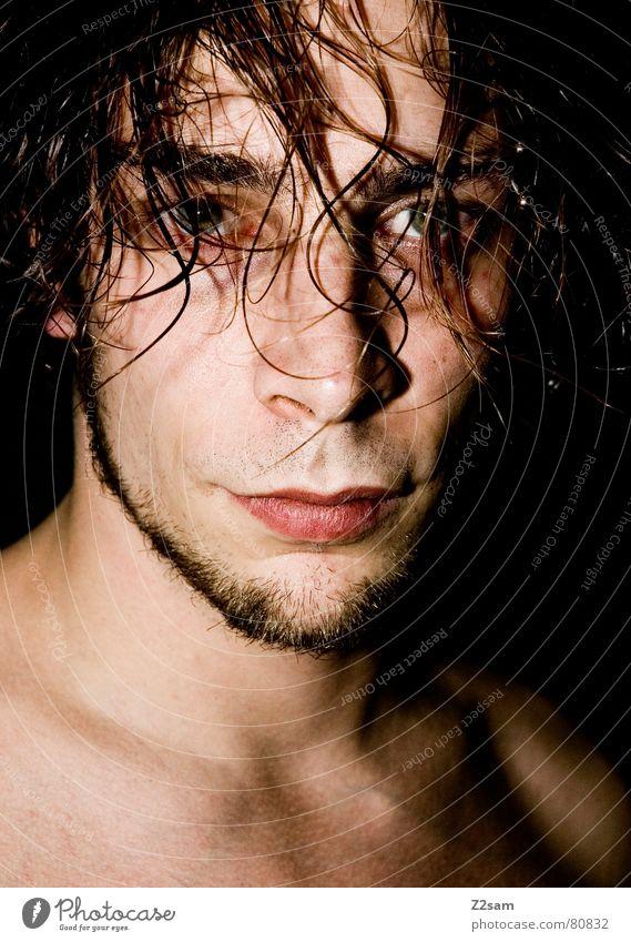unknown Mensch Mann Gesicht Auge Haare & Frisuren Kopf nass Bart geradeaus