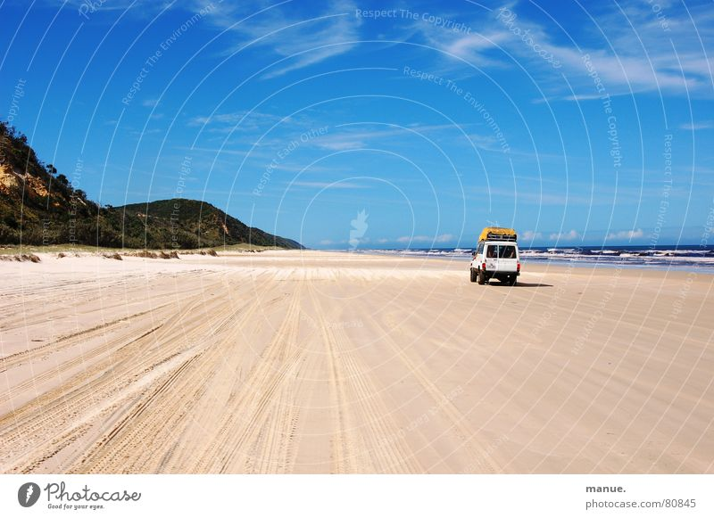 Don't swim and drive unvergesslich Meer Fraser Island Fraser River Geschwindigkeitsbegrenzung aufregend Australien Horizont Ereignisse Unendlichkeit unterwegs
