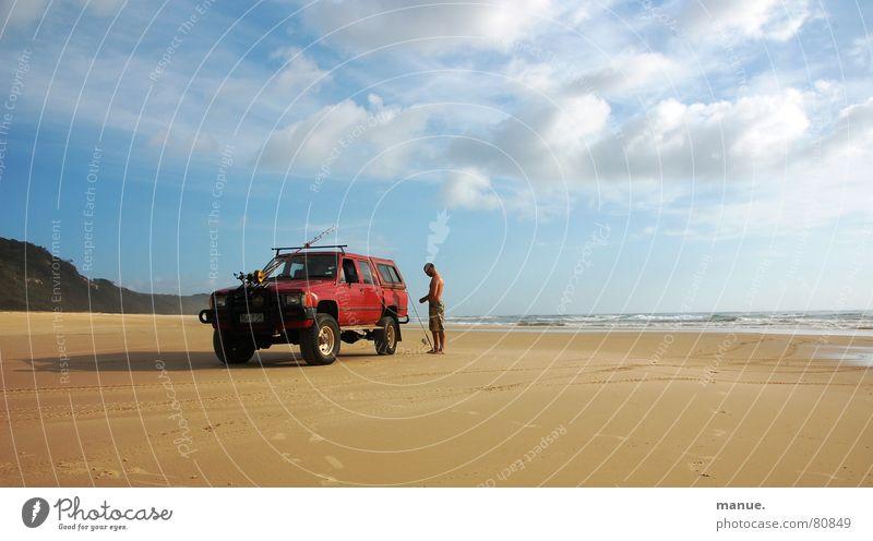 the perfect day Himmel Meer Strand ruhig Wolken Einsamkeit Erholung Denken Sand Feste & Feiern Küste Suche Erde Energiewirtschaft Freizeit & Hobby Gelassenheit