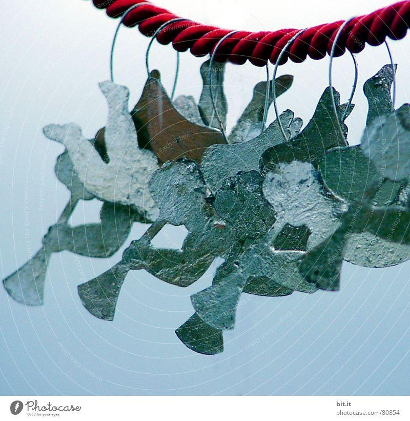 BLASKAPELLE Dekoration & Verzierung Feste & Feiern Chor Orchester Himmel Eis Frost Engel fliegen kalt blau Frieden Posaune Paradies Klang Weihnachtsdekoration