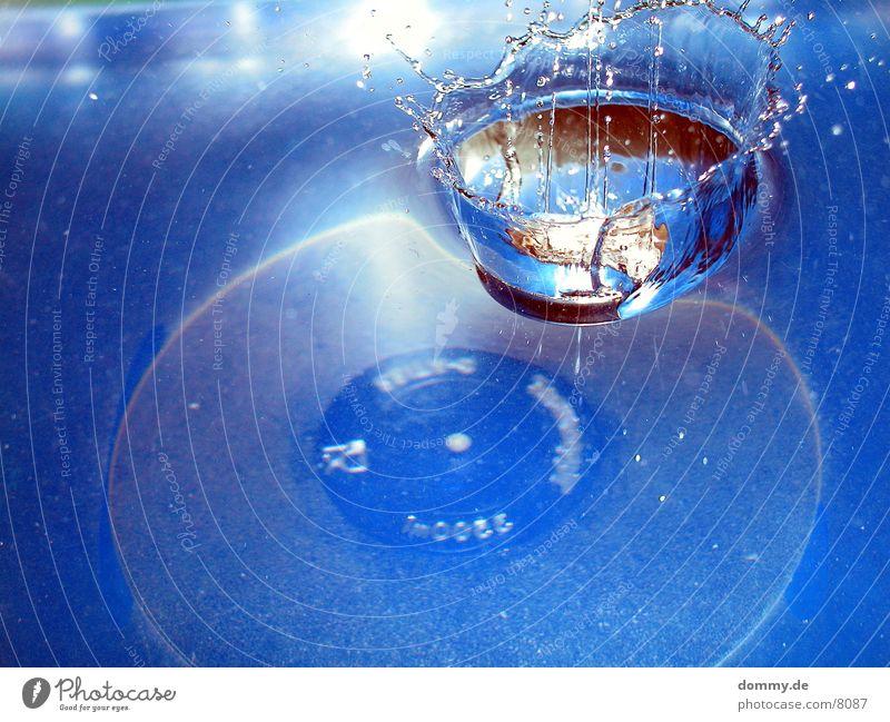 Krönung I spritzen Makroaufnahme Nahaufnahme Wasser blau Verschluss Baumkrone kaz