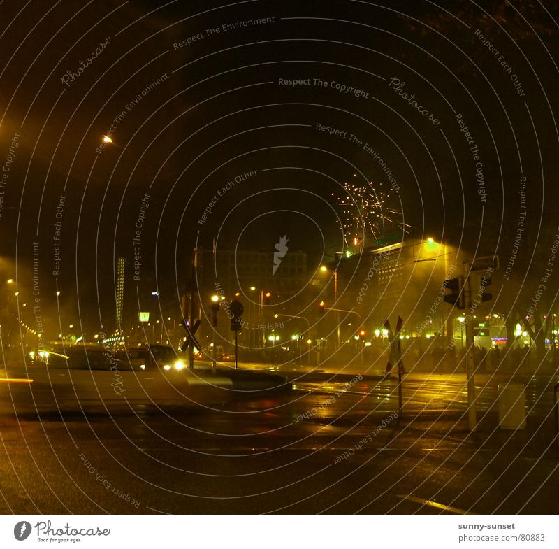 ~bright~night~ Silvester u. Neujahr Nacht Verkehr Leben Mannheim Licht Verkehrswege Fahrzeug Feuerwerk light jahreswende jahresabschluss
