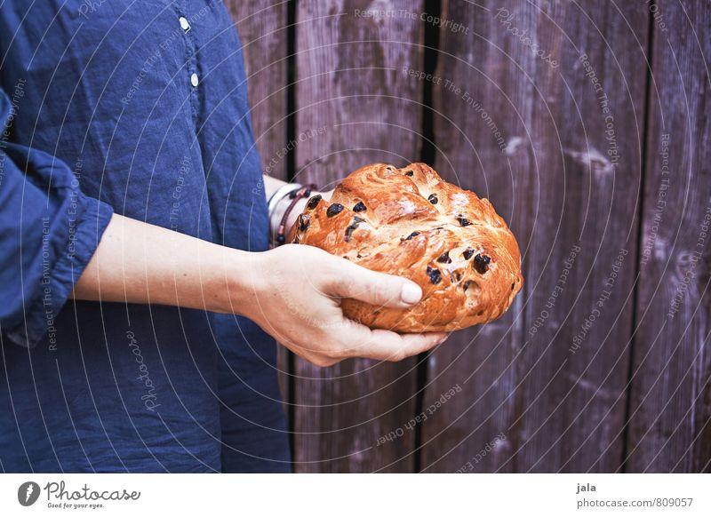 kuchen Mensch Frau Hand Erwachsene feminin natürlich Lebensmittel Körper Arme frisch Ernährung festhalten lecker Kuchen Vegetarische Ernährung Holzwand