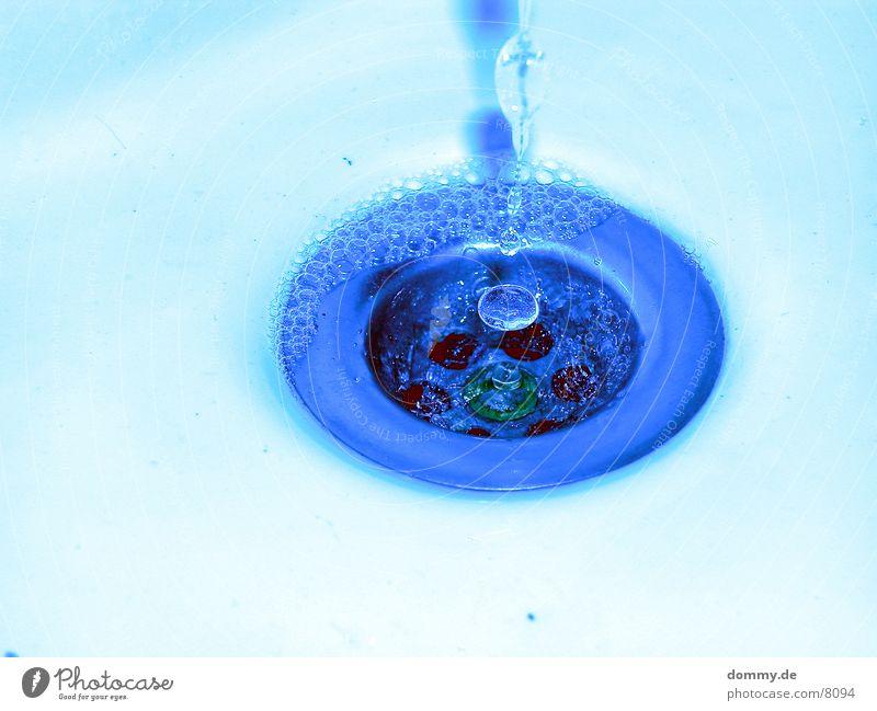 blueTRÖPFCHEN Makroaufnahme Nahaufnahme Wasser Wassertropfen blau sbfluss kaz