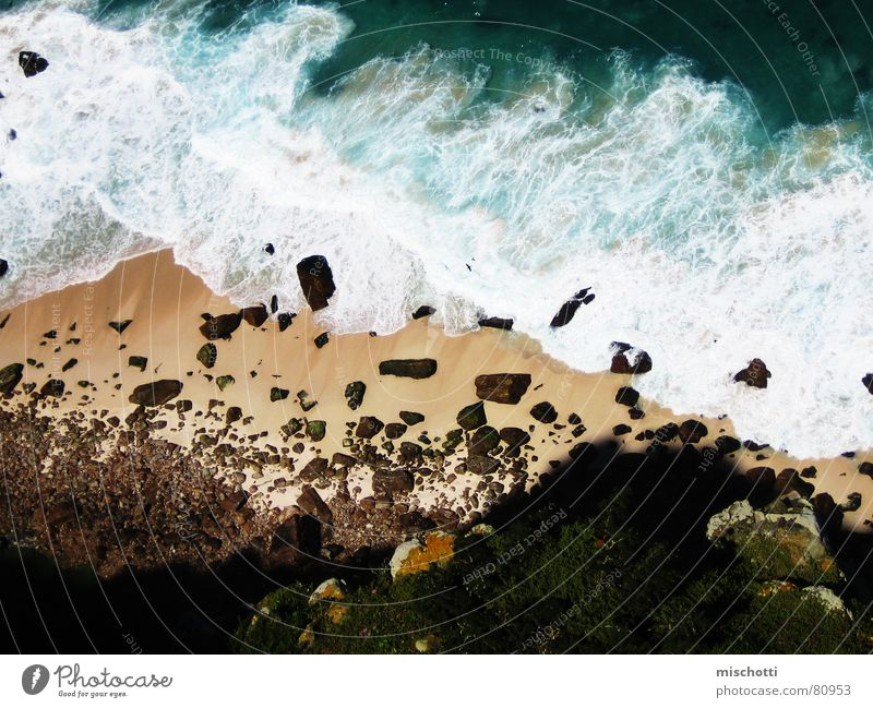 Good Hope Cape Of Good Hope unten Südafrika Meer Vogel Wellen Schaum Gischt Strand Felsvorsprung Küste Afrika Wasser oben Stein Felsen Schatten bauschen