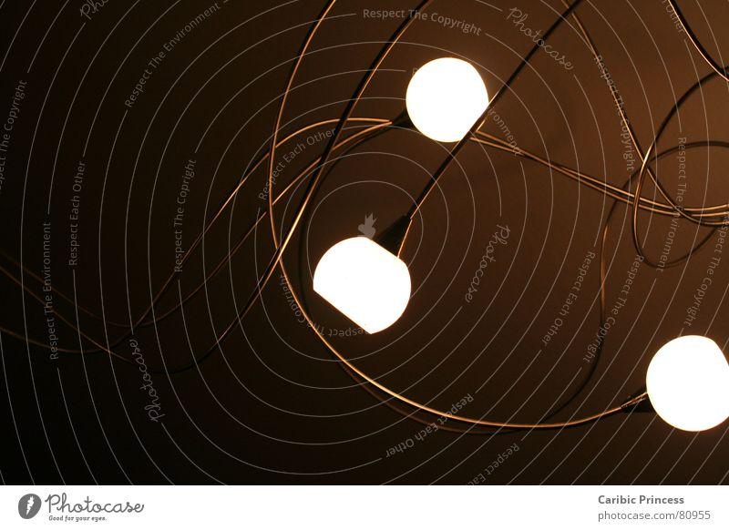 Lichtranken dunkel hell braun Raum 3 Technik & Technologie Stahl Schnörkel schlangenförmig Elektrisches Gerät