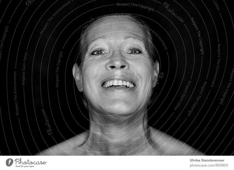 lol 2 Mensch Frau Freude Erwachsene Leben Senior Gefühle feminin lachen Glück Feste & Feiern Stimmung Kopf leuchten 45-60 Jahre Fröhlichkeit