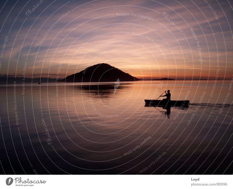 Malawisee Sonnenuntergang Afrika Ferien & Urlaub & Reisen schön Außenaufnahme Wolken Horizont harmonisch Romantik ruhig Erholung Himmel Natur Frieden Wasser