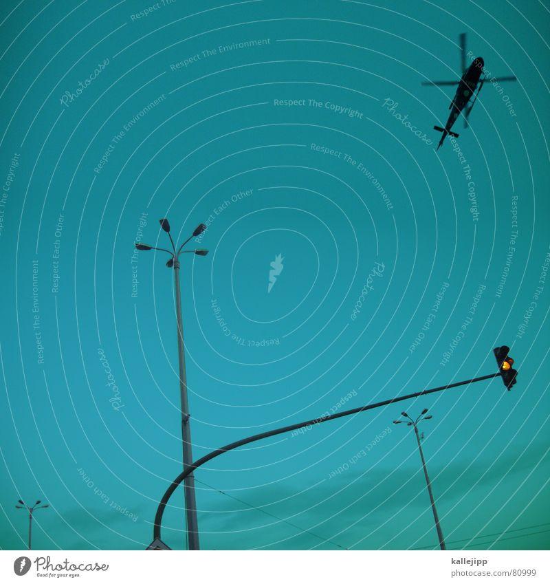 goodmorning potsdam gelb fliegen Lampe Straßenbeleuchtung Laterne Verkehrswege Krieg Ampel Mischung Brandenburg Potsdam Hubschrauber Rebell aufklären Vietnam