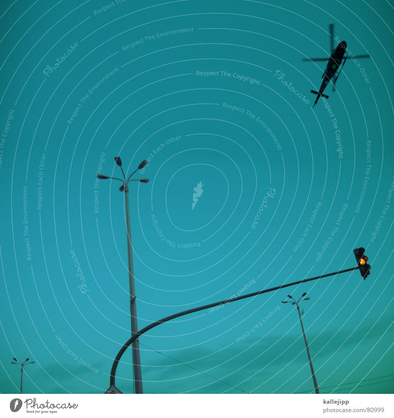 goodmorning potsdam schalten Vietnam Rebell aufklären Potsdam Luftkrieg Lampe Laterne Ampel gelb Hubschrauber Krieg Brandenburg Straßenbeleuchtung Verkehrswege