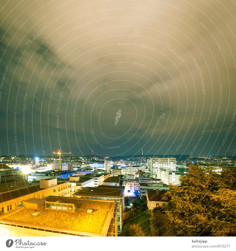 stuttgart 21 Stadt Hauptstadt Stadtzentrum Skyline leuchten Stuttgart Stuttgart Hauptbahnhof Dach Beleuchtung Erneuerbare Energie Energiewirtschaft