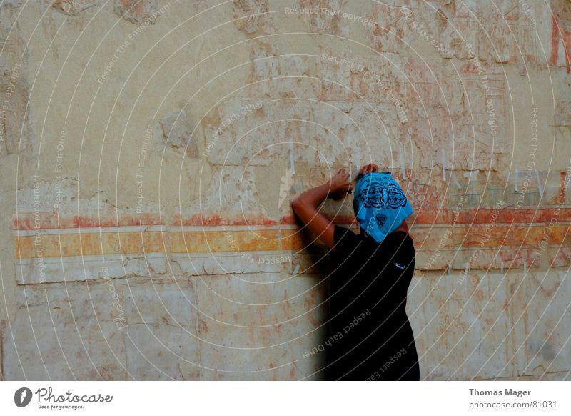 Reproduktion alt Schriftzeichen Buchstaben Zeichen Symbole & Metaphern Produktion Afrika Ägypten untersuchen Restauration Pharaonen Hieroglyphen