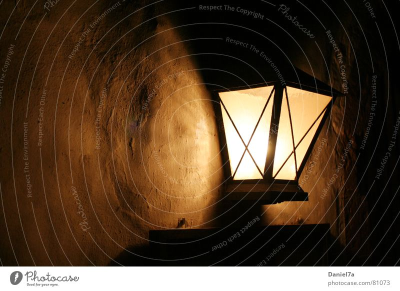 Wandlampe Weihnachten & Advent Winter Lampe dunkel Herbst Mauer Wärme hell Beleuchtung glänzend Brand Dekoration & Verzierung Maske Warmherzigkeit