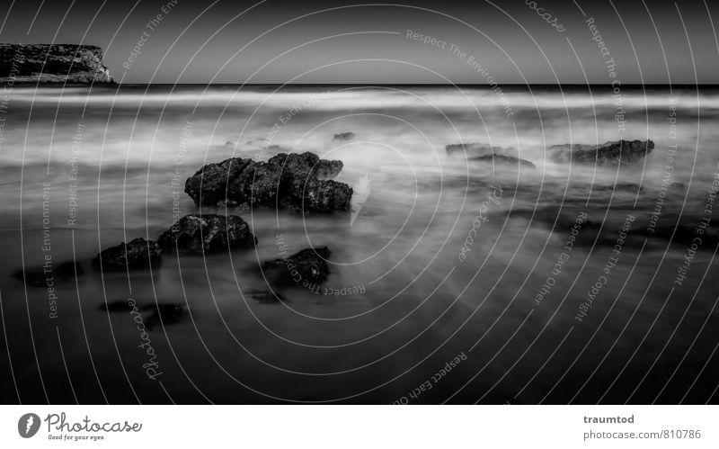 Son Bou, Menorca Natur Landschaft Horizont Wind Wellen Küste Strand Bucht Meer Insel Menschenleer Stein Wasser Schwimmen & Baden ästhetisch Gefühle Stimmung