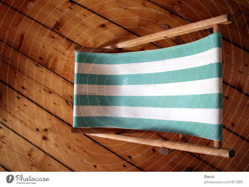 Innenkabine I Ferien & Urlaub & Reisen grün Sommer Erholung Einsamkeit Wohnung Freizeit & Hobby Häusliches Leben Streifen Möbel Sonnenbad Wohnzimmer gestreift