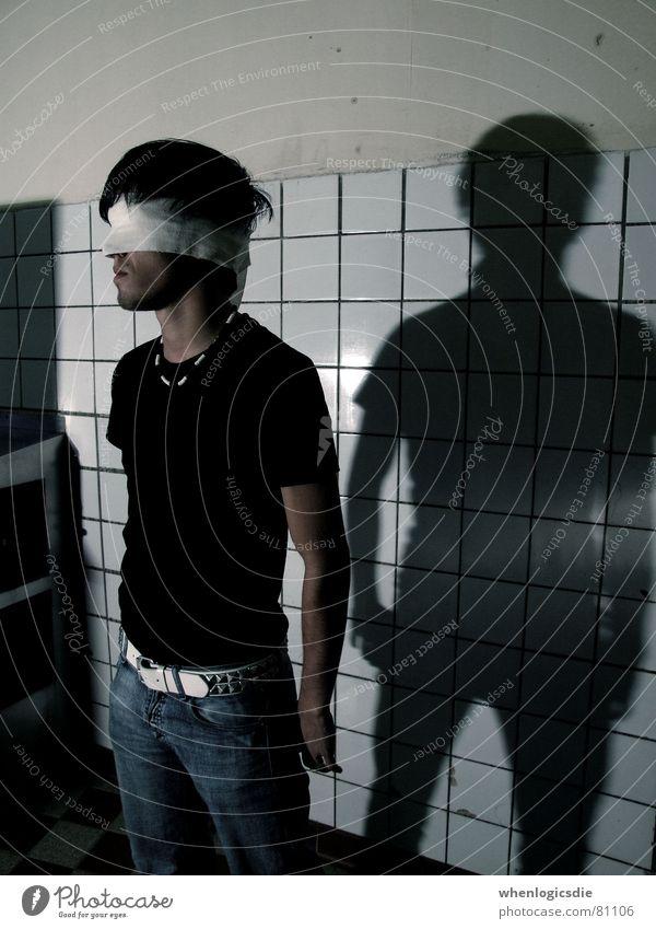 blind. Einsamkeit Verband Schmerz Schatten Wunde