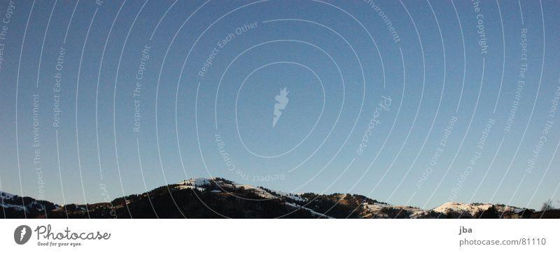 ungleiches Verhältniss Himmel blau schön Schnee Berge u. Gebirge Wärme klein hoch Spitze Gipfel Niveau Physik Tanne tief Bergkette Kamm