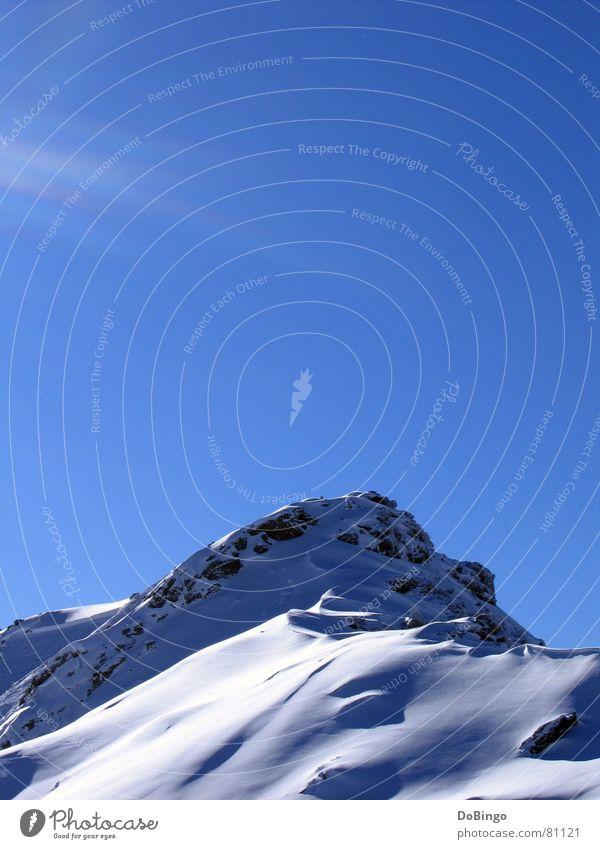 Zuckerhut Himmel Sonne blau Winter Wolken Schnee Berge u. Gebirge Stein hoch Schweiz Klarheit Alpen Schönes Wetter bedecken Pulver