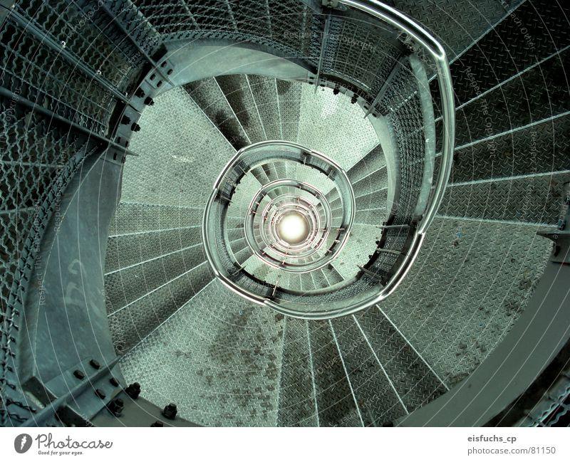 downstairs Kaleidoskop unten Licht Wasserwirbel rund schwungvoll ruhig Monochrom Schwerkraft Zickzack Seele Architektur Freizeit & Hobby Dinge gravity Treppe