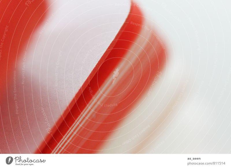 Farbschnitt Lifestyle Design Musik Papier Zettel Buch berühren Bewegung lesen ästhetisch Coolness frisch hell trendy Stadt orange weiß Farbe Dynamik Rhythmus