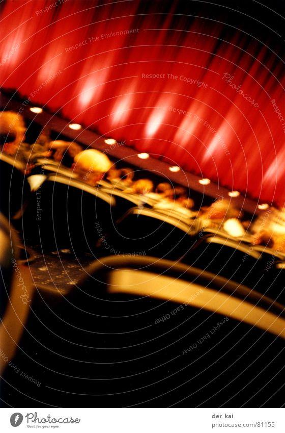 Ganz kleines Kino Lampe Filmindustrie Theater Vorhang Ereignisse Sitzgelegenheit Popkorn