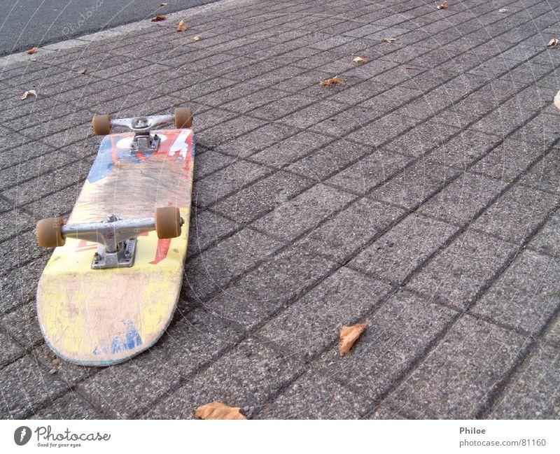 Skateboard Sport Spielen liegen Asphalt Skateboarding Parkdeck