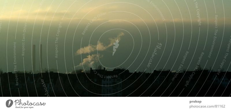Villo Pesto Ozon Emission hässlich Gift Umweltverschmutzung Stadt Rauch Wolken dunkel Geruch Ekel grau Kohlendioxid Abgas Horizont unbequem Schornstein
