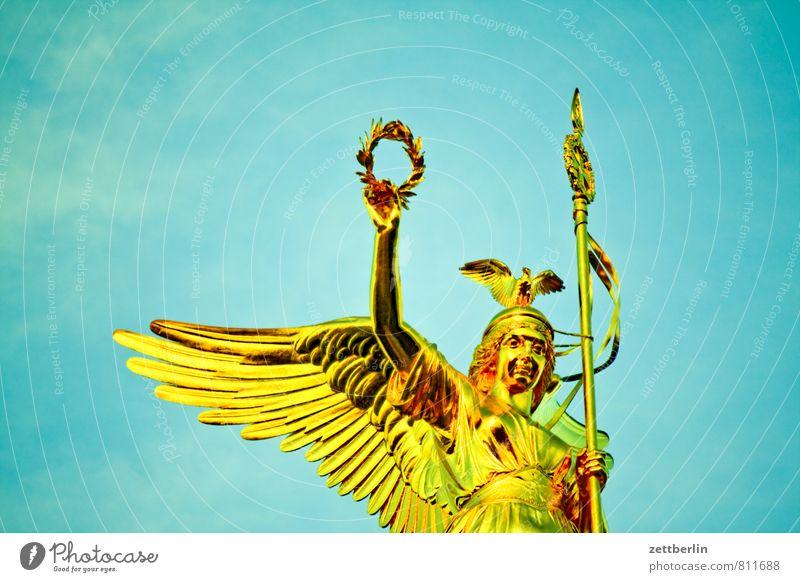 Else Himmel Berlin fliegen glänzend gold Erfolg Gold Flügel Engel Denkmal Wahrzeichen Statue Krieg Kranz Tiergarten Goldelse