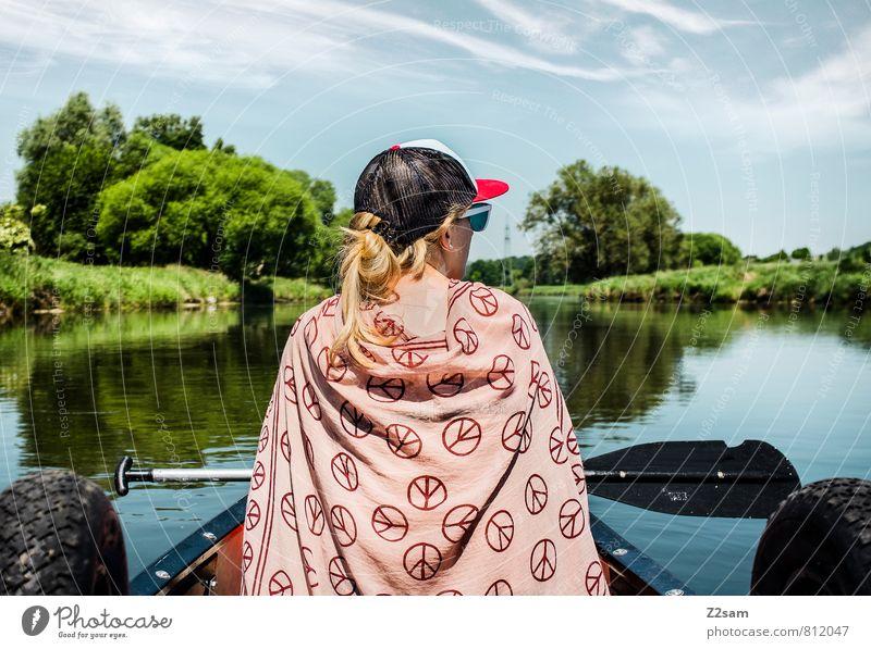 Piratin IV Natur Ferien & Urlaub & Reisen Jugendliche Baum Erholung Junge Frau ruhig Landschaft 18-30 Jahre Umwelt Erwachsene feminin Freiheit Idylle blond Sträucher