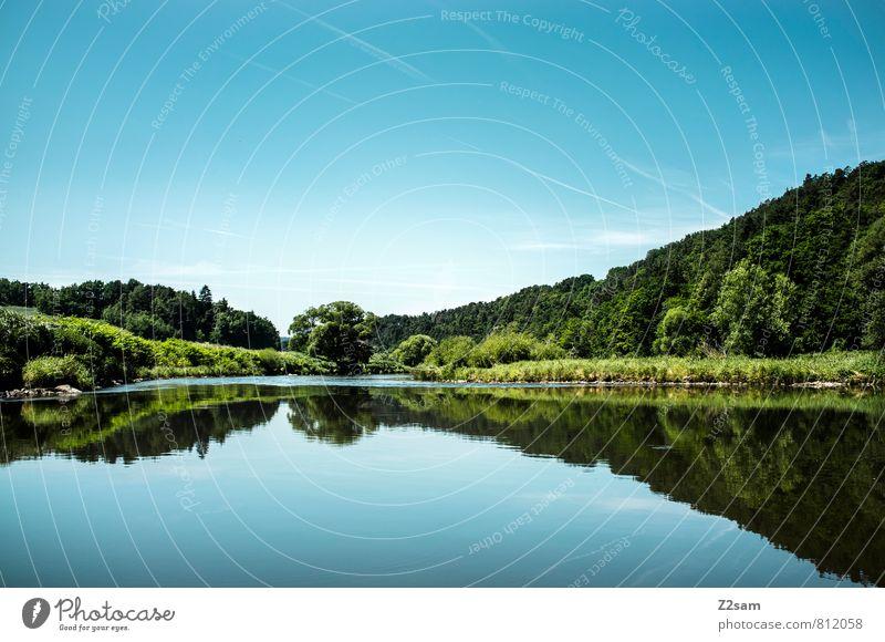 RUHE Himmel Natur blau grün Farbe Sommer Baum Erholung Einsamkeit ruhig Landschaft dunkel Umwelt natürlich Gesundheit Freizeit & Hobby