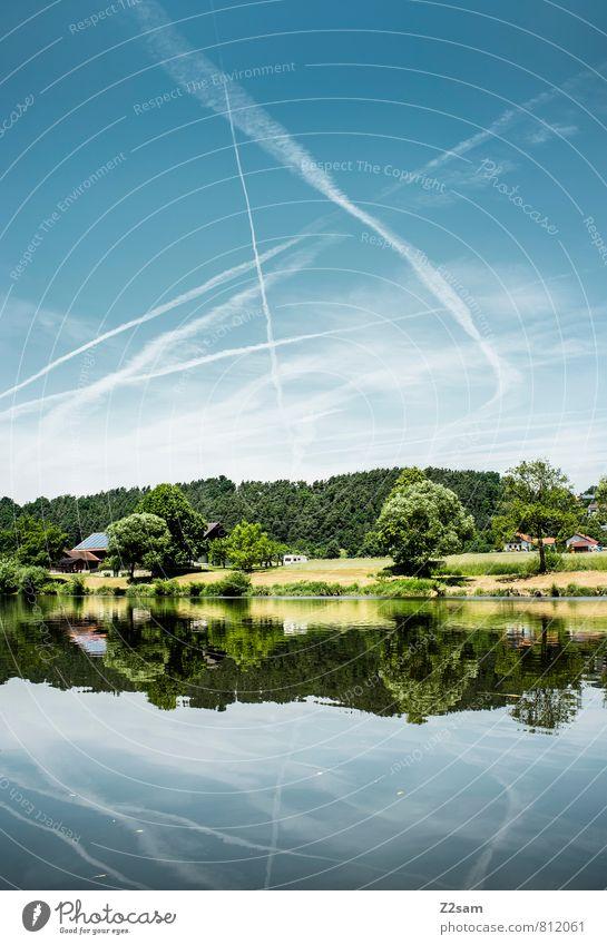 schee wars Himmel Natur Ferien & Urlaub & Reisen blau grün Sommer Baum Erholung ruhig Landschaft Umwelt Wiese natürlich Gesundheit Freizeit & Hobby Idylle