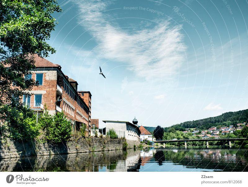 Kitsch aus der Oberpfalz Himmel Natur Ferien & Urlaub & Reisen blau grün Sommer Baum Einsamkeit Erholung ruhig Landschaft Umwelt natürlich Stimmung Vogel Idylle