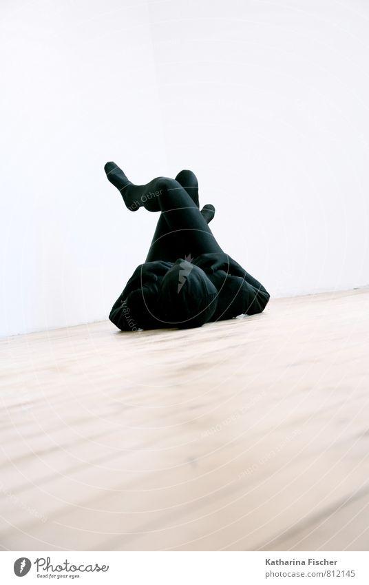 relax Mensch weiß Erholung ruhig schwarz außergewöhnlich Kunst braun liegen Körper Bodenbelag Pause Gelassenheit Skulptur ausruhend fertig