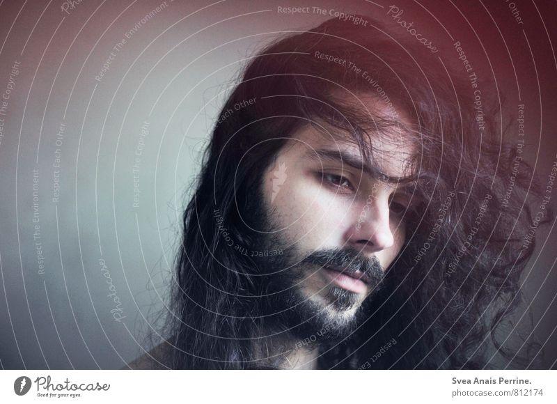 ... maskulin Junger Mann Jugendliche Kopf Haare & Frisuren Gesicht 1 Mensch 18-30 Jahre Erwachsene brünett langhaarig schön natürlich Sehnsucht Farbfoto