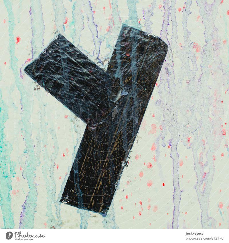 Ypsilon Stil Subkultur Straßenkunst Klebeband Schriftzeichen Graffiti Streifen Coolness einfach Fröhlichkeit trendy nachhaltig trashig Stimmung Toleranz