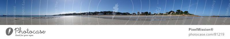 Panoramissimo... Sonne Meer Sommer Strand Ferien & Urlaub & Reisen Haus Sand Küste groß Felsen Möwe Panorama (Bildformat) Wattenmeer Nordsee Bretagne
