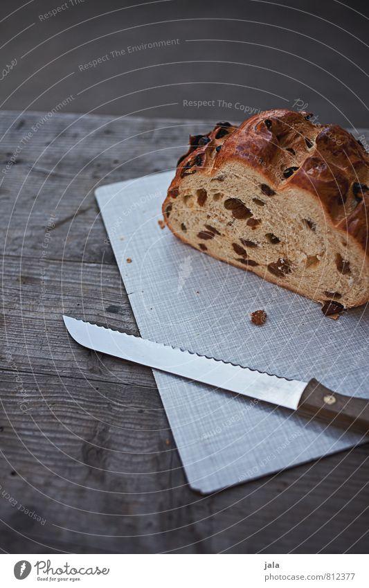 rosinenstuten natürlich Lebensmittel Ernährung lecker Appetit & Hunger Kuchen Messer Schneidebrett Holztisch Kaffeetrinken
